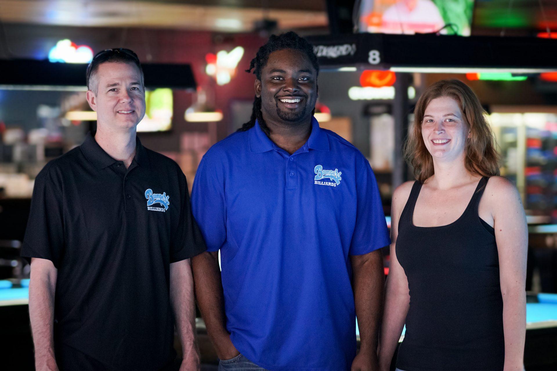 Staff at Bumpers Billiards Huntsville Alabama